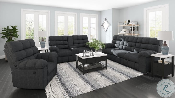 Wilhurst Marine Reclining Sofa With Drop Down Table