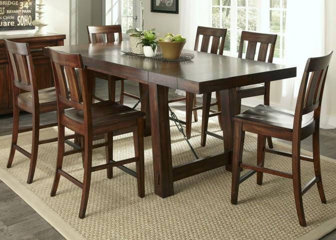 Tahoe Mahogany Stain Gathering Dining Room Set