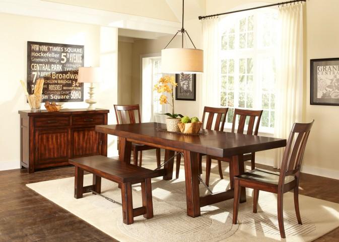 Tahoe Trestle Extendable Dining Room Set