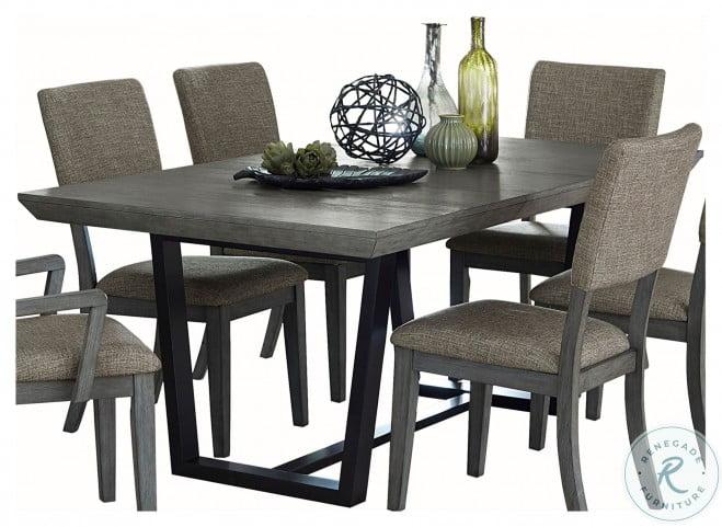 Avenhorn Gray Extendable Rectangular Dining Table