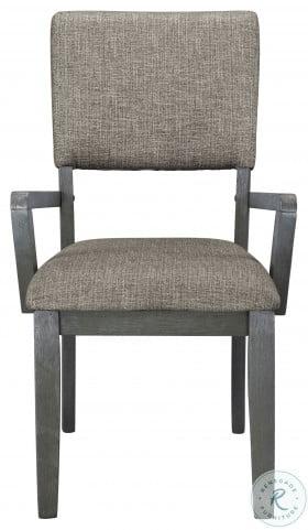 Avenhorn Gray Arm Chair Set of 2