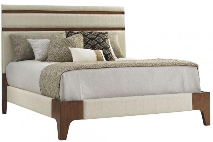 Island Fusion Mandarin King Upholstered Panel Bed