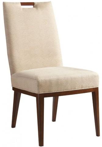Island Fusion Coles Bay Gold Geometric Fabric Side Chair