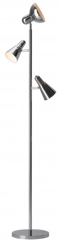 Shuttle Chrome Floor Lamp