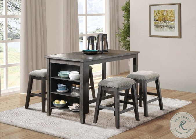 Timbre Gray Counter Height Dining Room Set