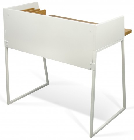 Volga Oak and Pure White Desk
