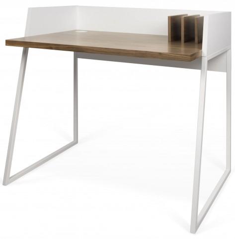 Volga Walnut and Pure White Desk
