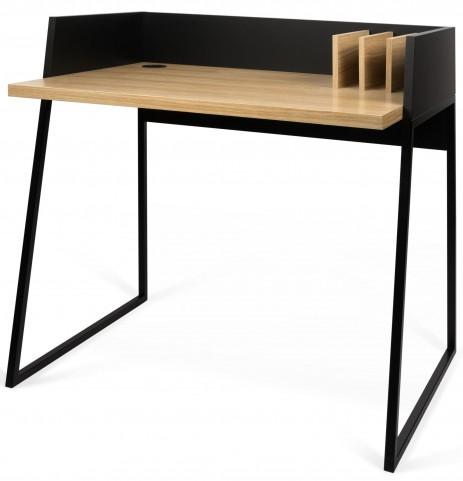 Volga Oak and Pure Black Desk