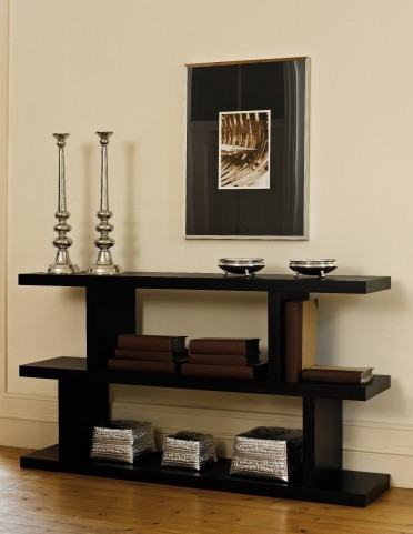 Wenge Step Low Bookcase