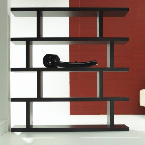 Wenge Step High Bookcase