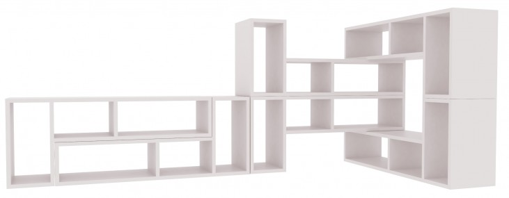 Domino White 7 Shelving Unit