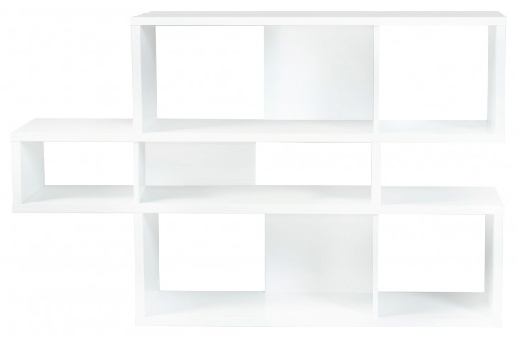 London Pure WhiteFrame With Pure White Backs 6 Shelf Bookcase