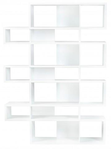 London Pure White Frame with Pure White Backs 14 Shelf Bookcase