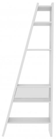 Delta White Single Bookcase with Back