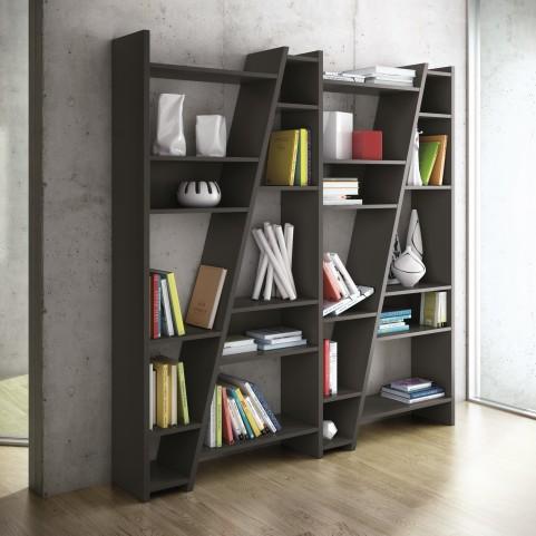 Delta Black 4 Piece Bookcase with Back