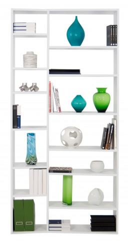 Valsa White 14 Shelf Bookcase