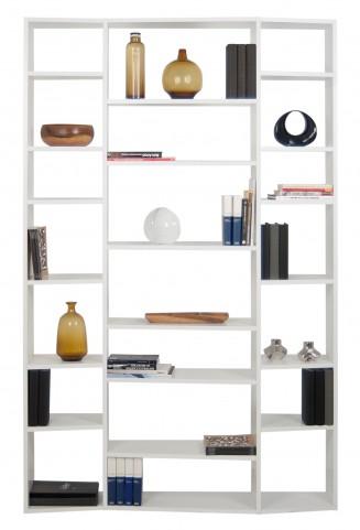 Valsa White 21 Shelf Bookcase