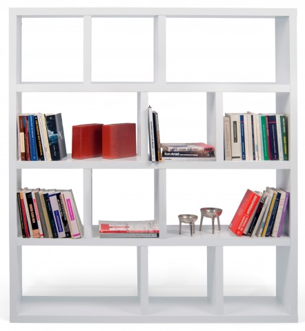 "Berlin White 63"" 5 Shelf Bookcase"
