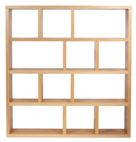Berlin Oak 59 Inch 5 Shelf Bookcase