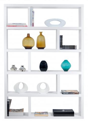 Dublin White High Bookcase