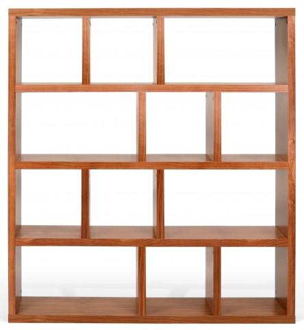 Berlin Walnut 59 Inch 5 Shelf Bookcase