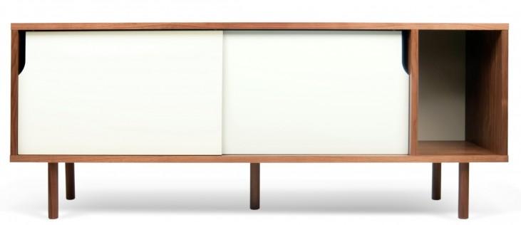 Dann Walnut and White Sideboard