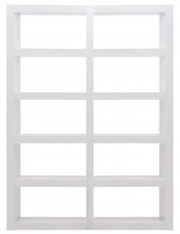 Denso High Gloss White 10 Shelf Bookcase Unit