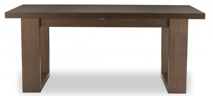 """Tundra Chocolate and High Gloss White 71"""" Dining Table"""