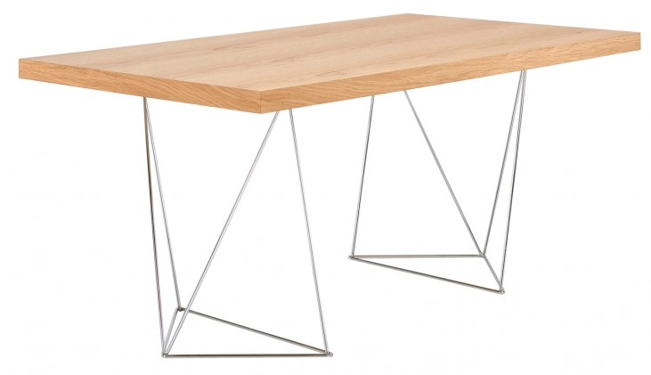 "Multi Oak 71"" Table Top with Trestles"