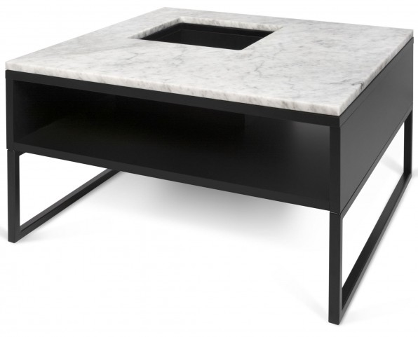 Sigma White and Black Coffee Table
