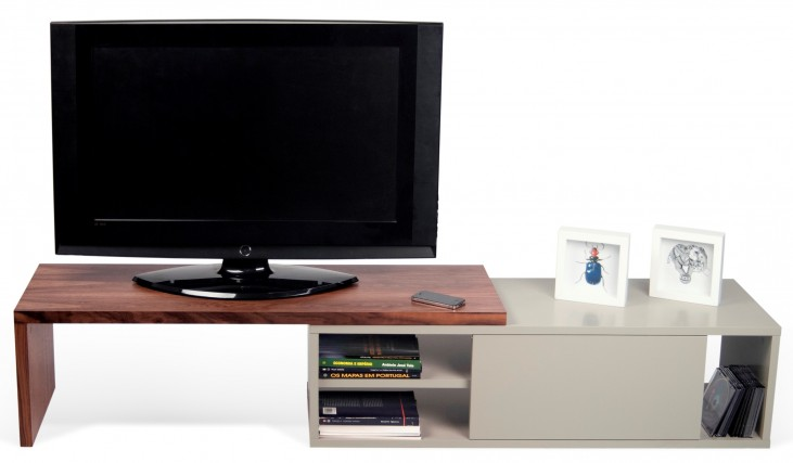 Move Walnut and Matte Grey Tv Table
