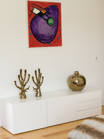 Glare High Gloss White Sideboard with Levellers