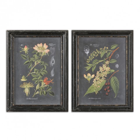 Midnight Botanicals Wall Art Set of 2