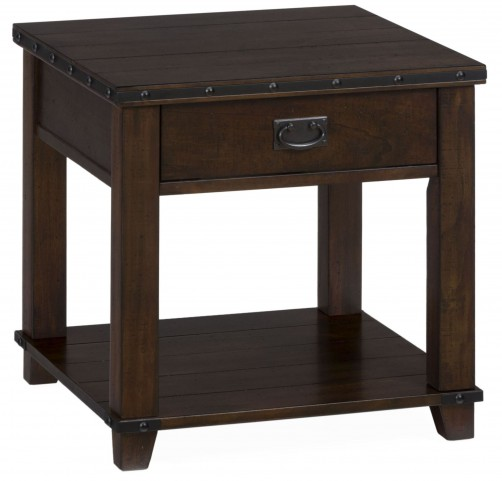 Cassidy Distressed Brown End Table
