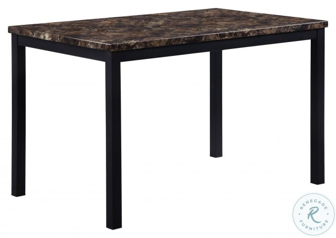 Waite Black Metal Dining Table