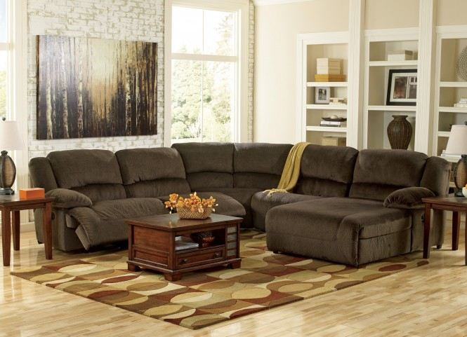 Toletta Left Arm Facing Reclining Sectional