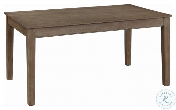 Armhurst Wire Brush Brown Dining Table