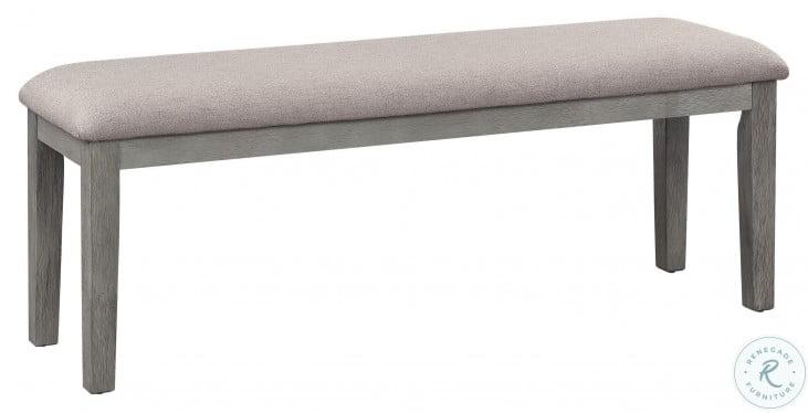 Armhurst Wire Brush Dark Gray And Light Gray Bench