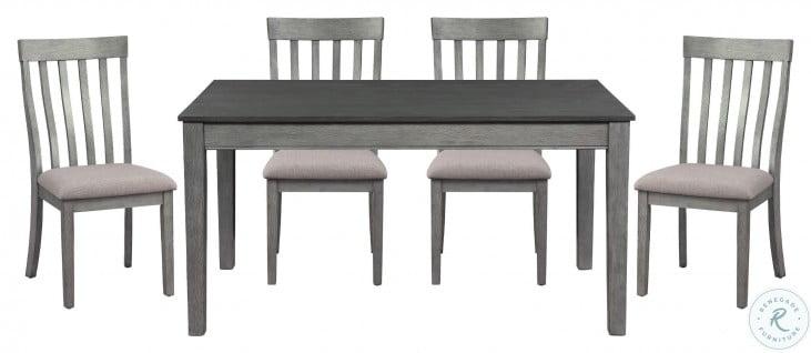 Armhurst Wire Brush Dark Gray And Light Gray Side Chair Set Of 2