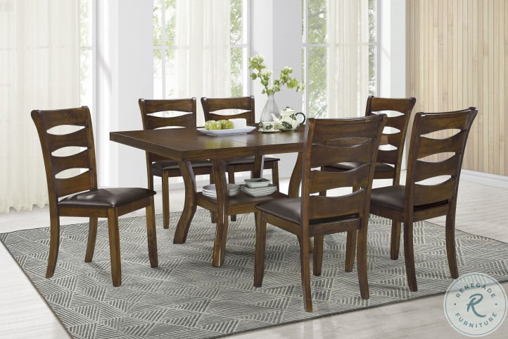 Darla Brown Extendable Dining Room Set