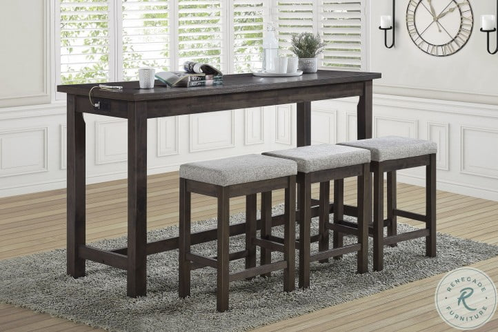 Connected Gray 4 Piece Pack Counter Height Set