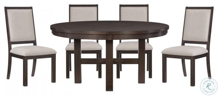 Josie Espresso Round Dining Table