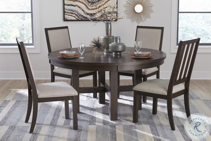 Josie Espresso Round Dining Room Set