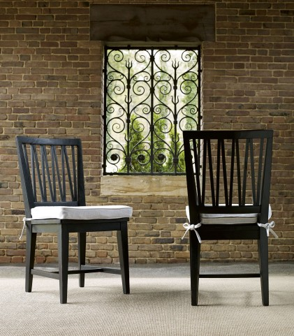 Authenticity Black Side Chair Set of 2