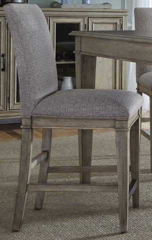 Grayton Grove Driftwood Upholstered Barstool Set of 2