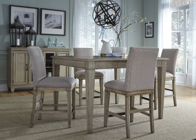 Grayton Grove Driftwood Extendable Counter Height Dining Room Set