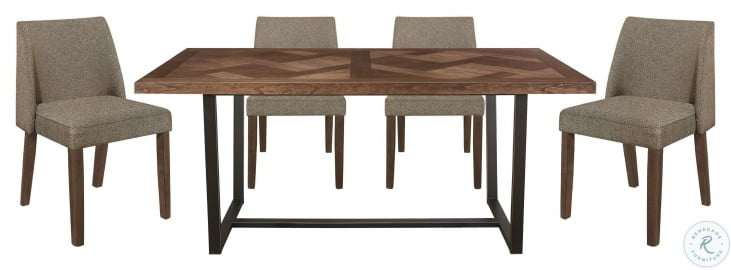 Leland Brown And Black Dining Table