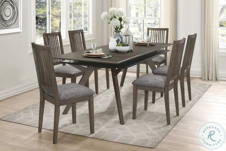 Mezzanine Dark Gray Extendable Dining Room Set