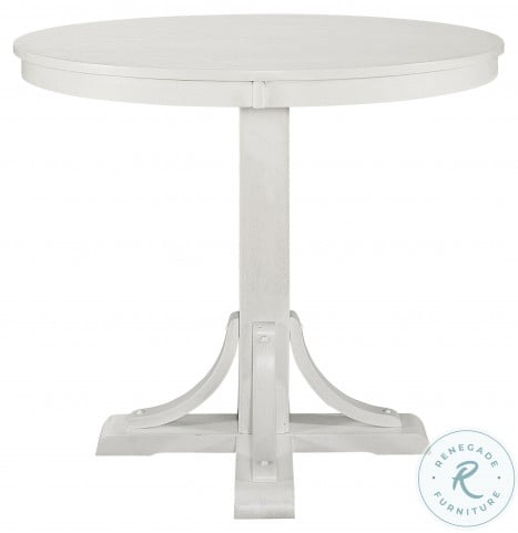 Samuel Antique White Round Counter Height Dining Table