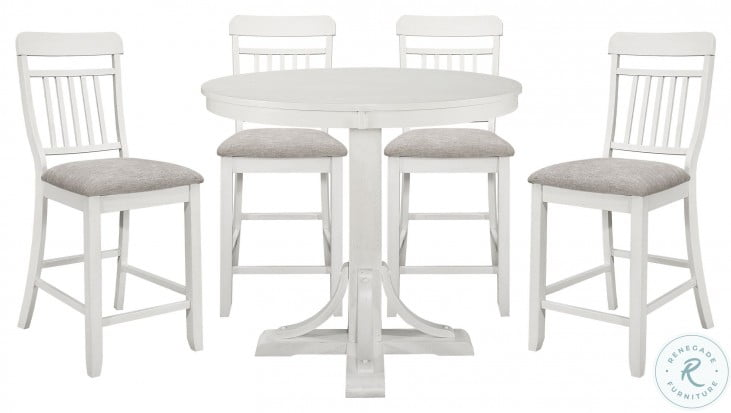 Samuel Antique White Counter Height Chair Set Of 2